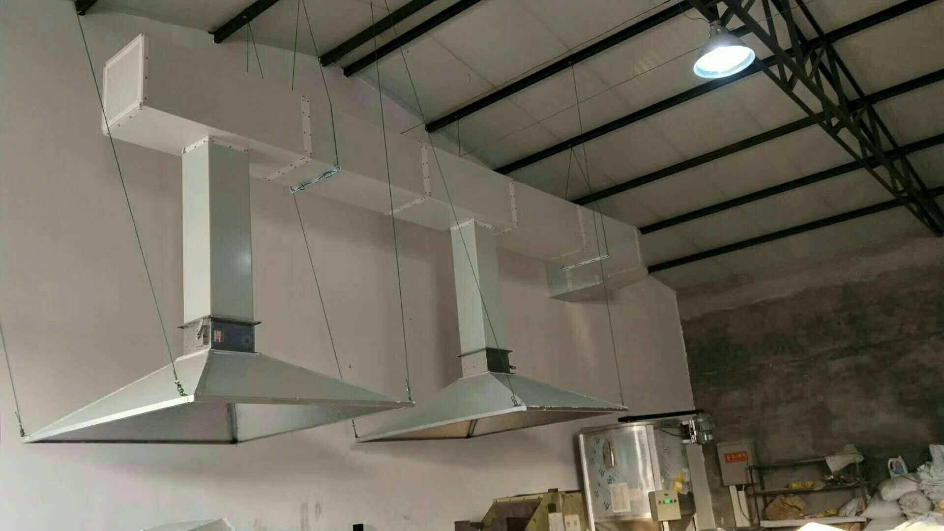 山西太原塑料制品厂UV光解空气净化器安装调试成功
