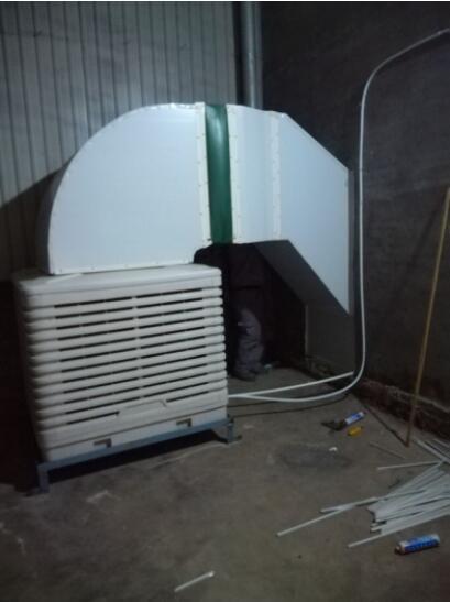石家庄车间降温设备施工案例