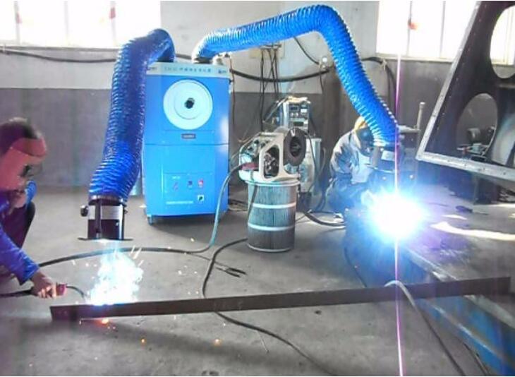 GL-Z1500移动式焊接烟尘净化设备现场应用
